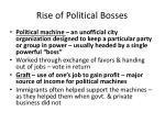 rise of political bosses