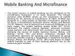 mobile banking and microfinance1