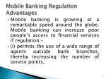 mobile banking regulation advantages