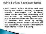 mobile banking regulatory issues1