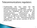 telecommunications regulators