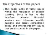 the objectives of the papers
