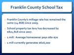 franklin county school tax