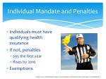 individual mandate and penalties