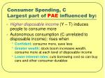 consumer spending c largest part of pae influenced by