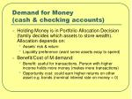 demand for money cash checking accounts