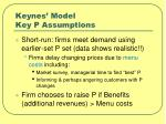 keynes model key p assumptions