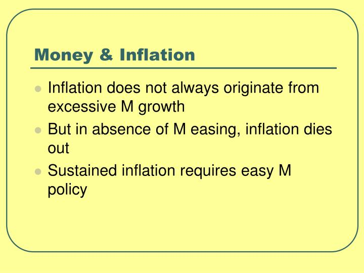 Money & Inflation