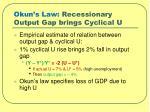 okun s law recessionary output gap brings cyclical u
