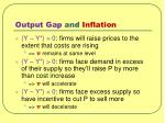 output gap and inflation