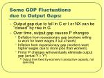 some gdp fluctuations due to output gaps