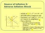 source of inflation 2 adverse inflation shock