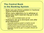 the central bank in the banking system