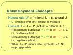 unemployment concepts