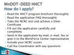 mndot deed hhct how do i apply