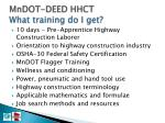 mndot deed hhct what training do i get