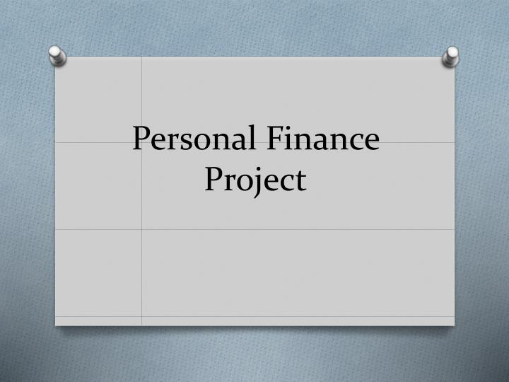 personal finance project n.