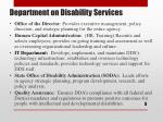 department on disability services