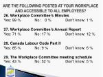 are the following posted at your workplace and accessible to all employees