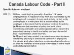canada labour code part ii