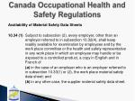 canada occupational health and safety regulations1
