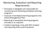 monitoring evaluation and reporting requirements