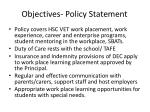 objectives p olicy statement