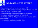 insurance sector reforms
