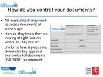 how do you control your documents