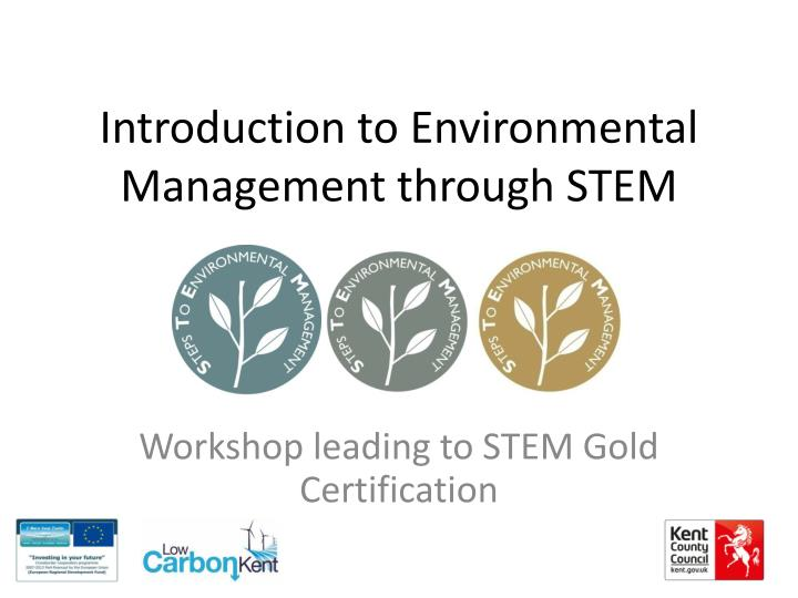 introduction to environmental management through stem n.