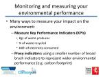 monitoring and measuring your environmental performance