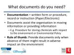what documents do you need