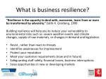 what is business resilience