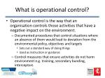 what is operational control
