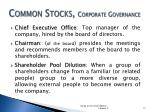 common stocks corporate governance2