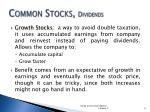 common stocks dividends1