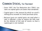 common stocks tax treatment