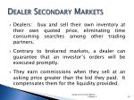 dealer secondary markets