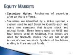 equity markets1