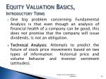 equity valuation basics introductory terms2
