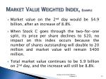 market value weighted index example