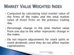 market value weighted index