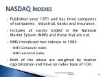 nasdaq indexes