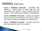 nasdaq three levels
