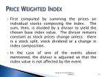 price weighted index