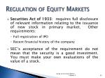 regulation of equity markets