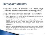secondary markets1