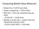 computing market value measures