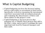 what is capital budgeting