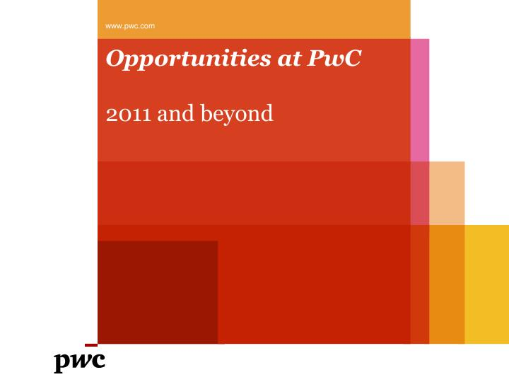 opportunities at pwc n.